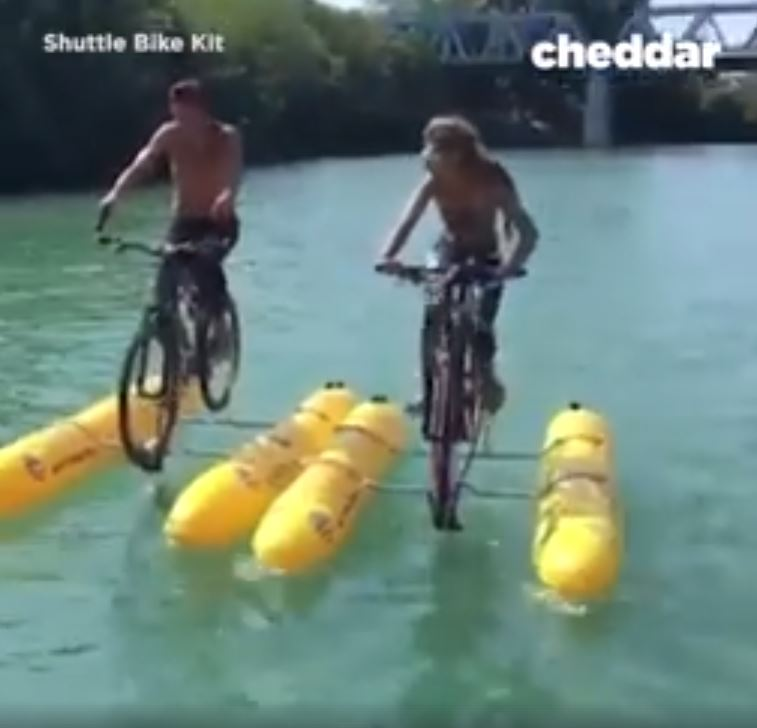 New Invention That Let's You Cycle On Water Can Be Put In A Backpack image 2