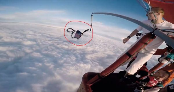 Fearless Skydiver Threw Parachute