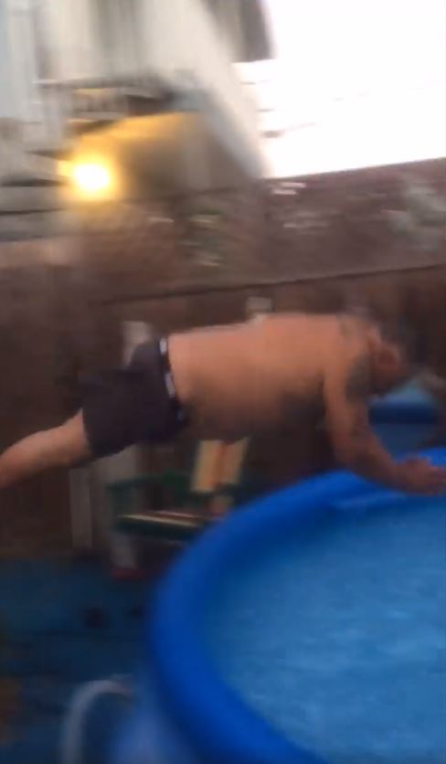 Adults Playing in a Kiddie Inflatable Pool is Hilariously Funny image 3