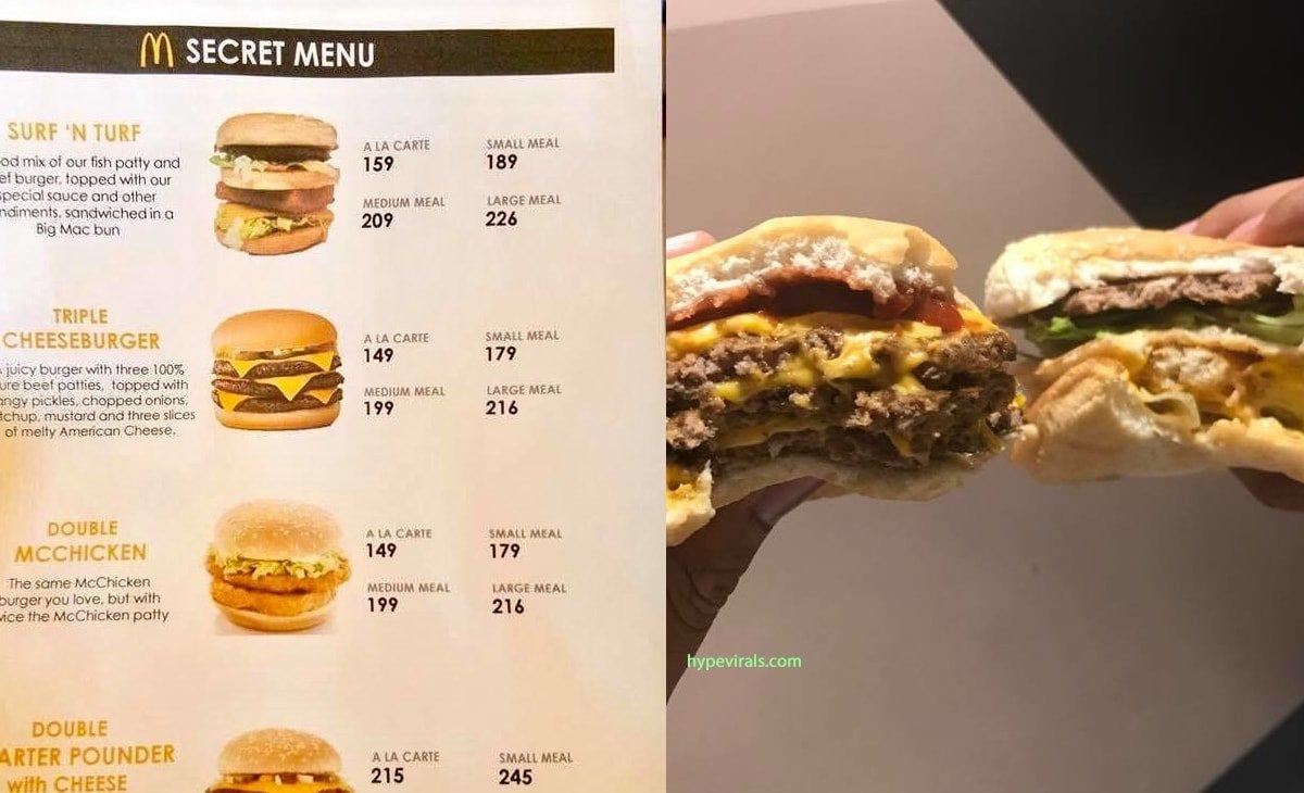 mcdo secret menu
