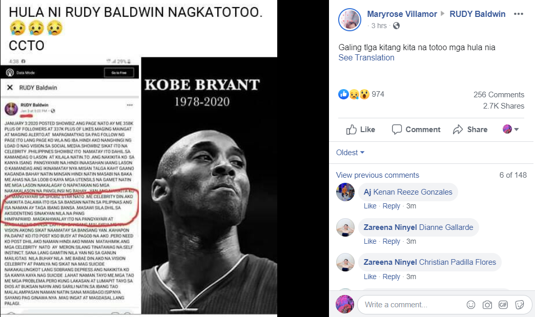 RUDY Baldwin Predict