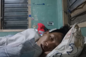 Guy Goes to Sleep on 'Live Video'